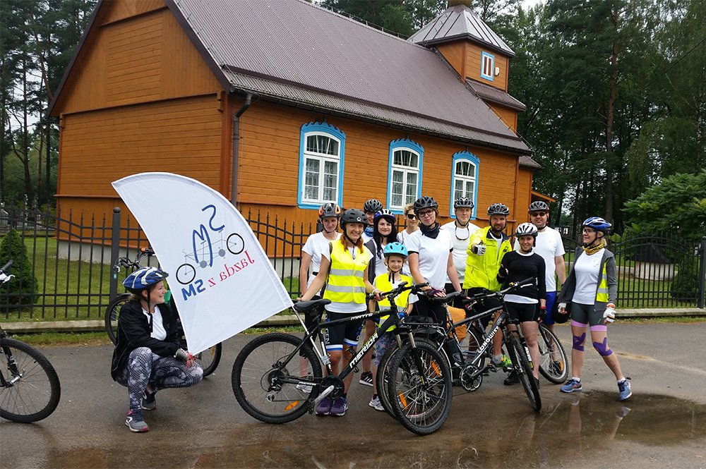 MS cycling event in Poland
