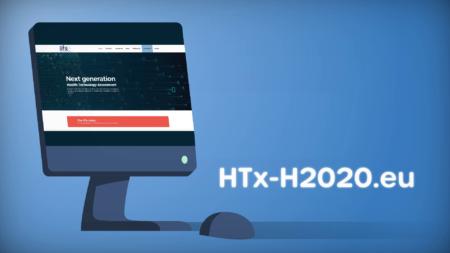 htx-h2020.eu website on a screen